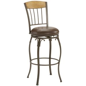 "Hillsdale Metal Stools 24"" Counter Height Lakeview Swivel Stool"