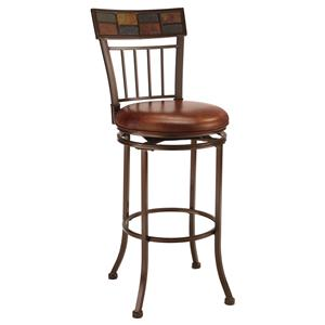"Morris Home Furnishings Metal Stools 30"" Bar Height Montero Stool"
