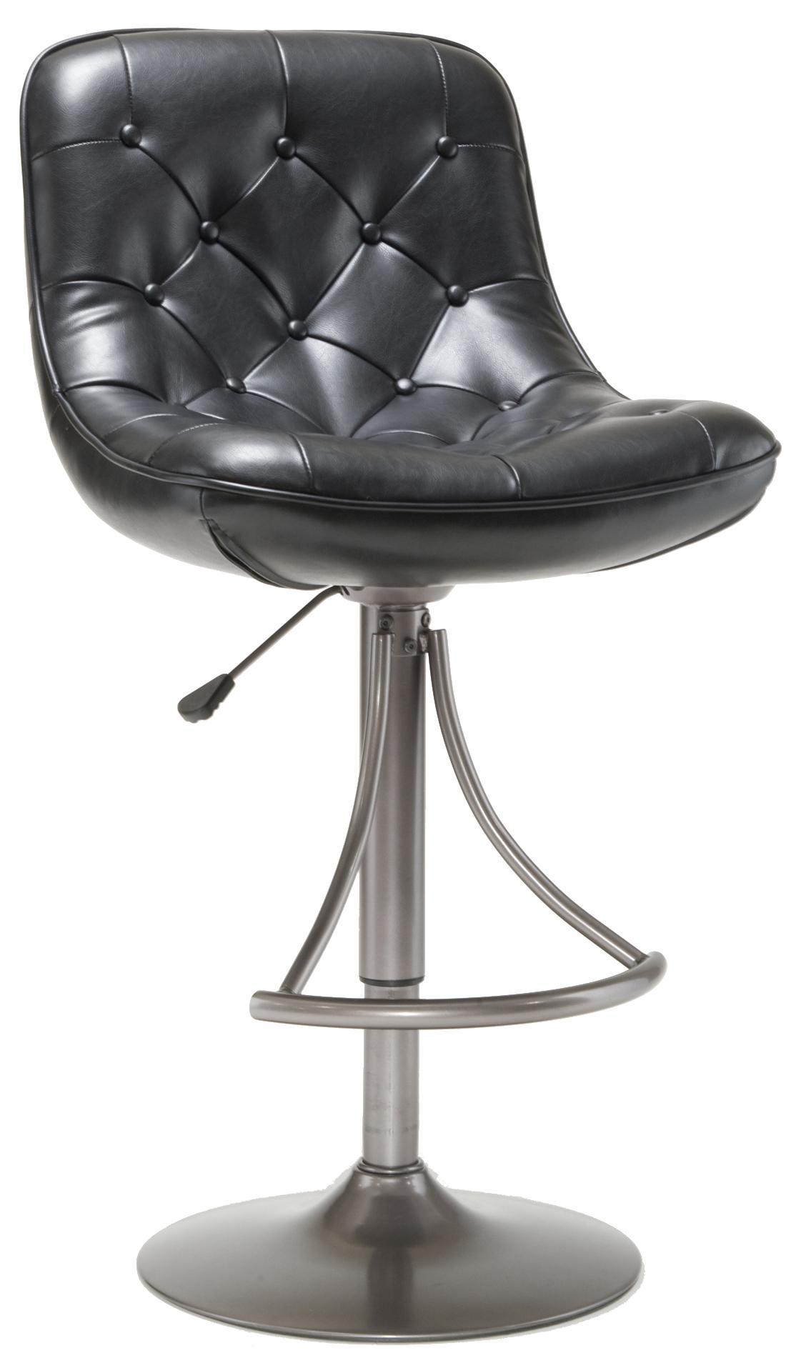 Hillsdale Metal Stools Adjustable Height Oyster Grey Aspen Barstool - Item Number: 4290-830