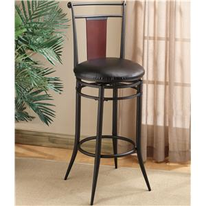 "Morris Home Furnishings Metal Stools 30"" Bar Height Midtown Stool"