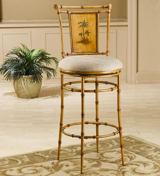 "Hillsdale Metal Stools 24"" Counter Height West Palm Swivel Stool - Item Number: 4330-824"