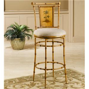 "Morris Home Furnishings Metal Stools 30"" Bar Height West Palm Swivel Stool"
