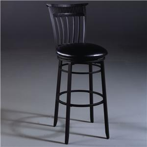 "Morris Home Furnishings Metal Stools 30"" Bar Height Cottage Swivel Stool"