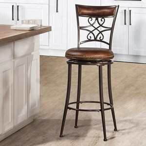 Morris Home Furnishings Metal Stools Metal Bar Stool