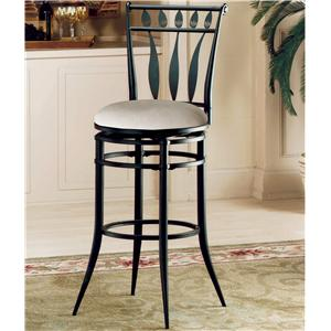 "Morris Home Furnishings Metal Stools 30"" Bar Height Hudson Swivel Stool"