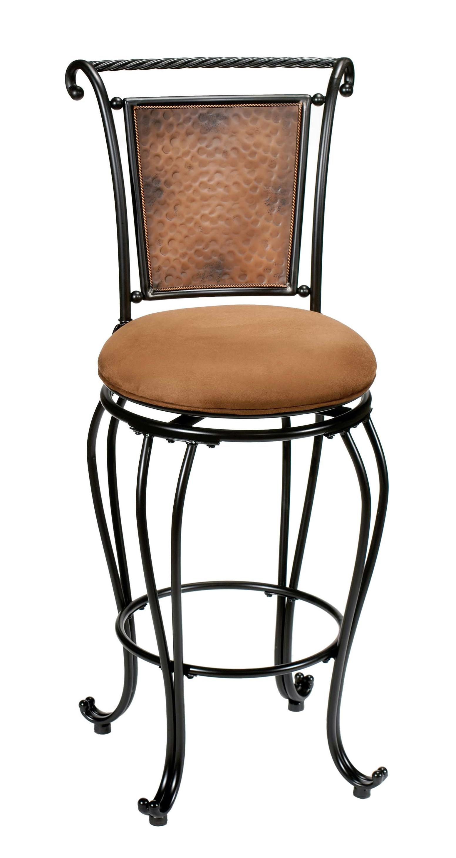 "Hillsdale Metal Stools 24"" Counter Height Milan Stool  - Item Number: 4527-827"
