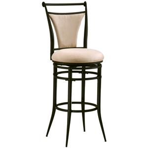 "Morris Home Furnishings Metal Stools 30"" Bar Height Fawn Cierra Stool"