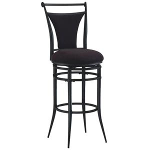 "Hillsdale Metal Stools 26"" Counter Height Black Cierra Stool"