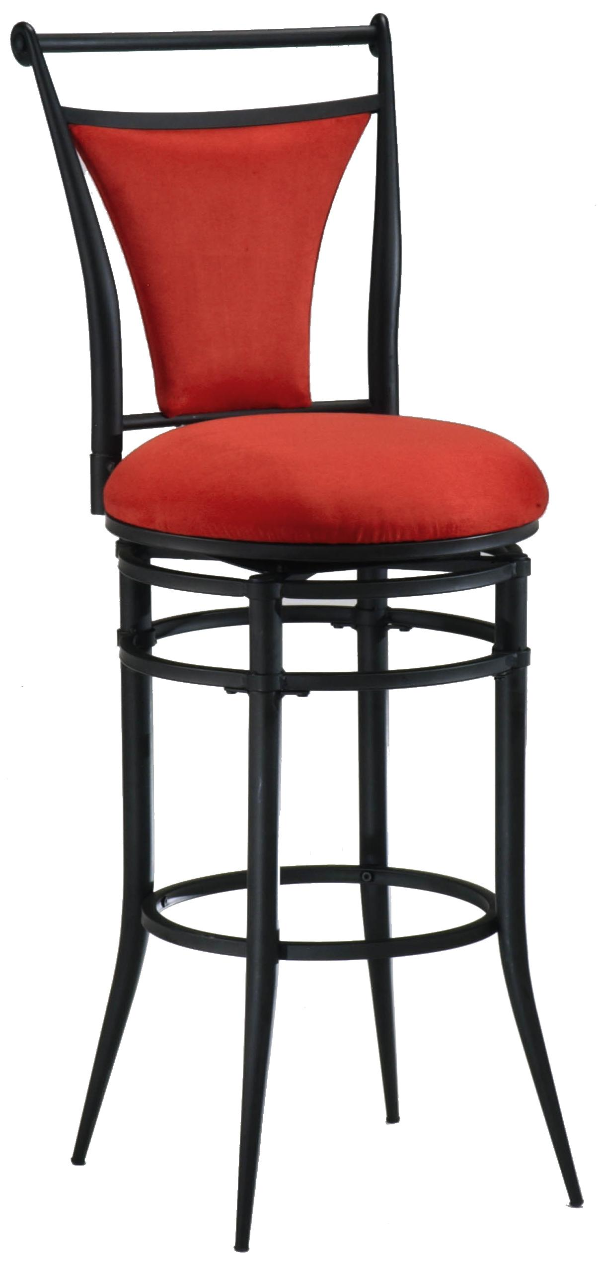 "Hillsdale Metal Stools 26"" Counter Height Flame Cierra Stool - Item Number: 4592-827"