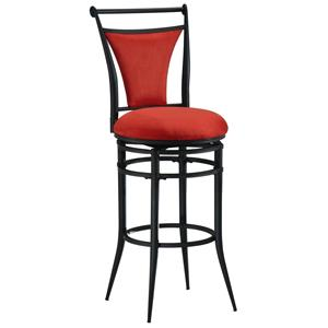 "Morris Home Metal Stools 30"" Bar Height Flame Cierra Stool"
