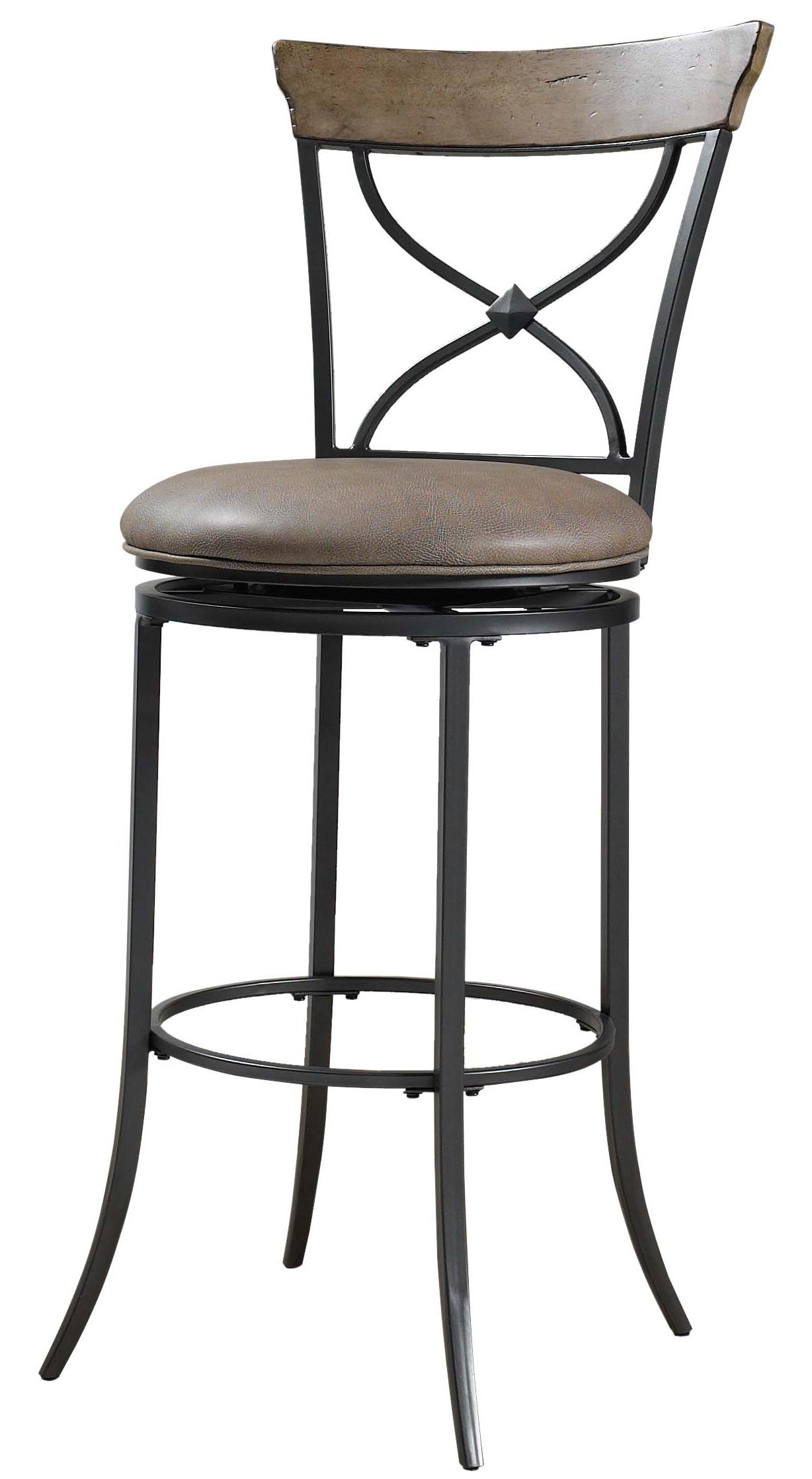 Hillsdale Metal Stools Charleston Swivel X-Back Counter Stool - Item Number: 4670-826