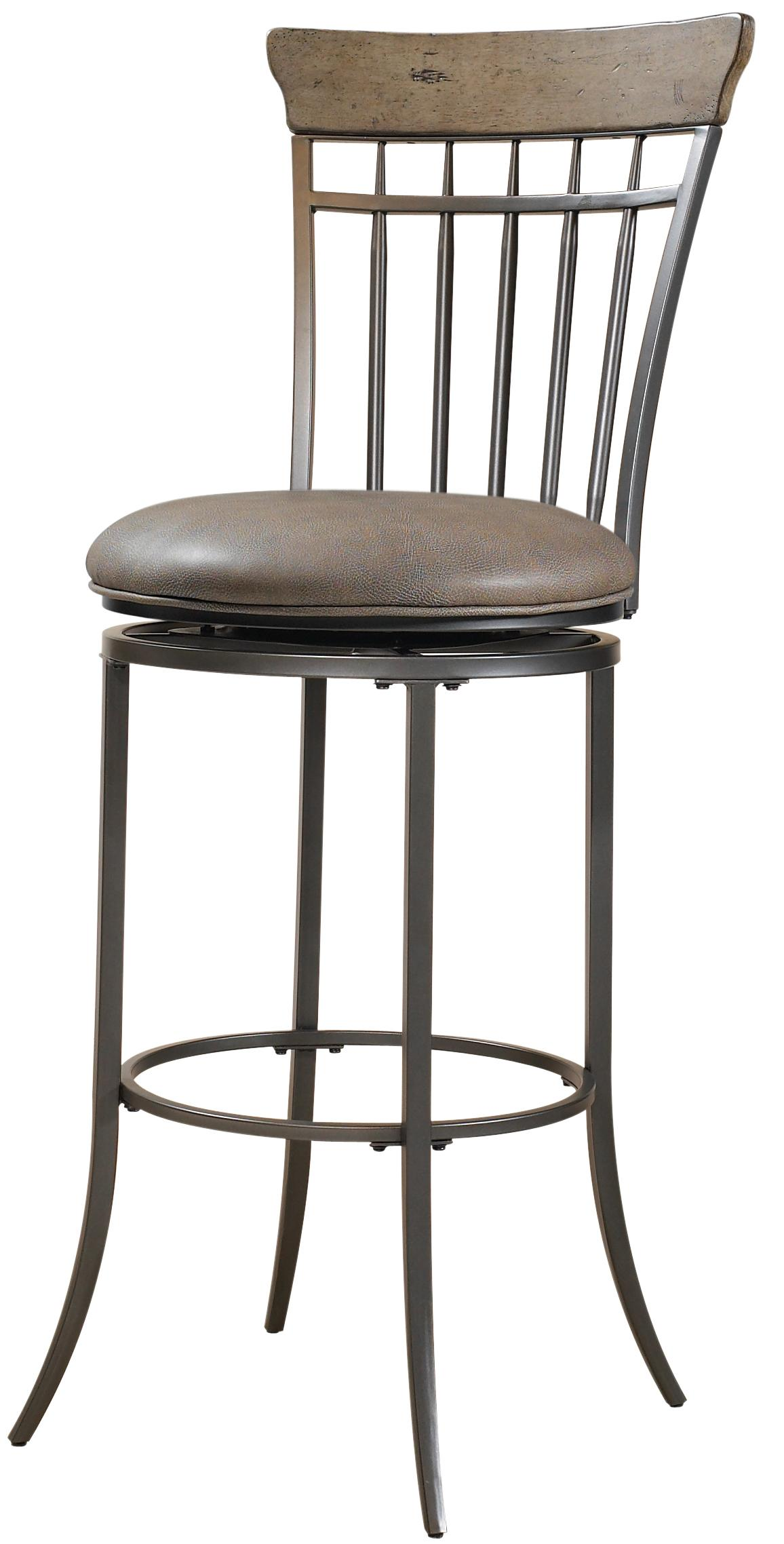 Hillsdale Metal Stools Charleston Swivel Spindle Back Counter Stool - Item Number: 4670-827
