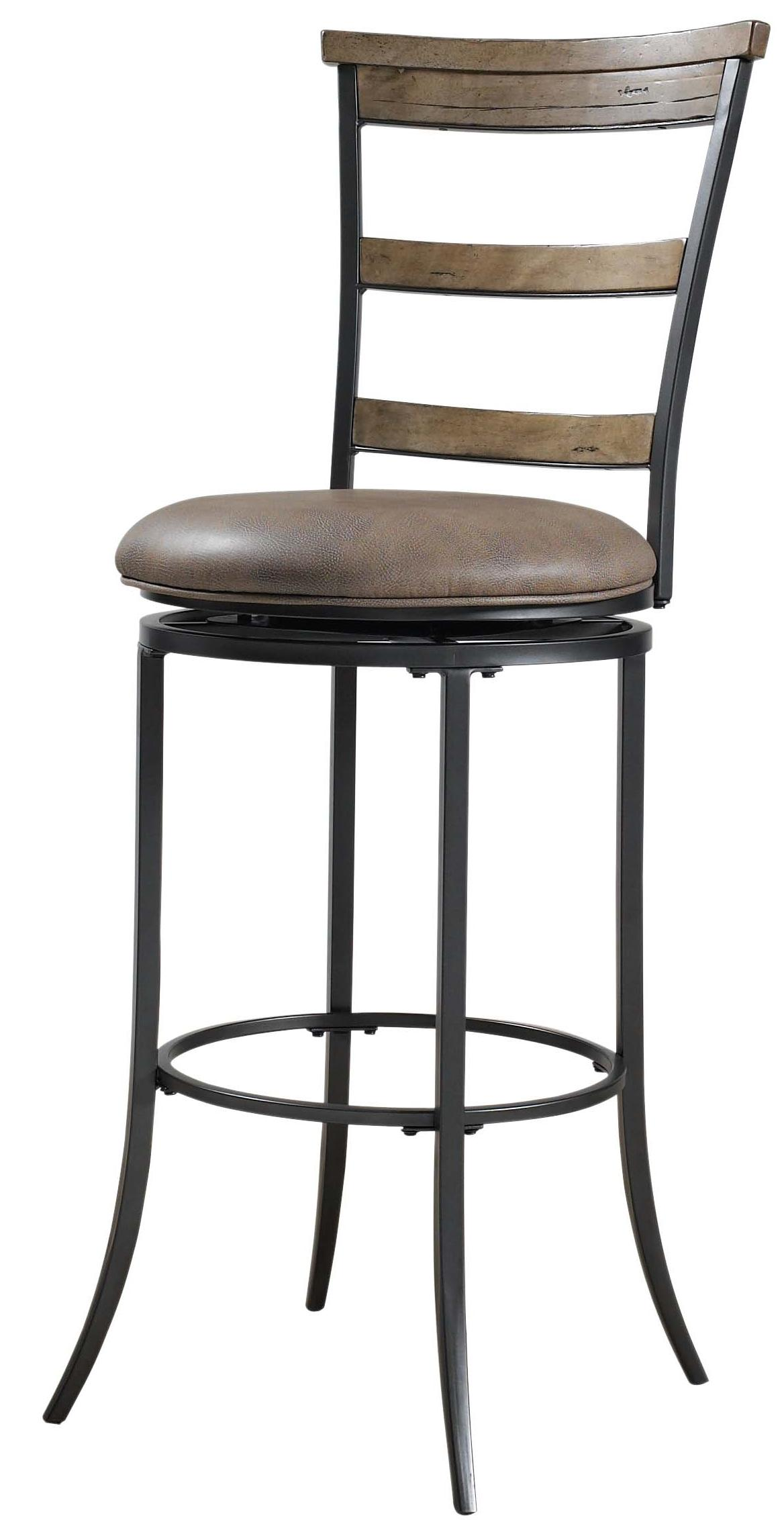 Hillsdale Metal Stools 4670 832 Charleston Swivel Ladder Back Bar