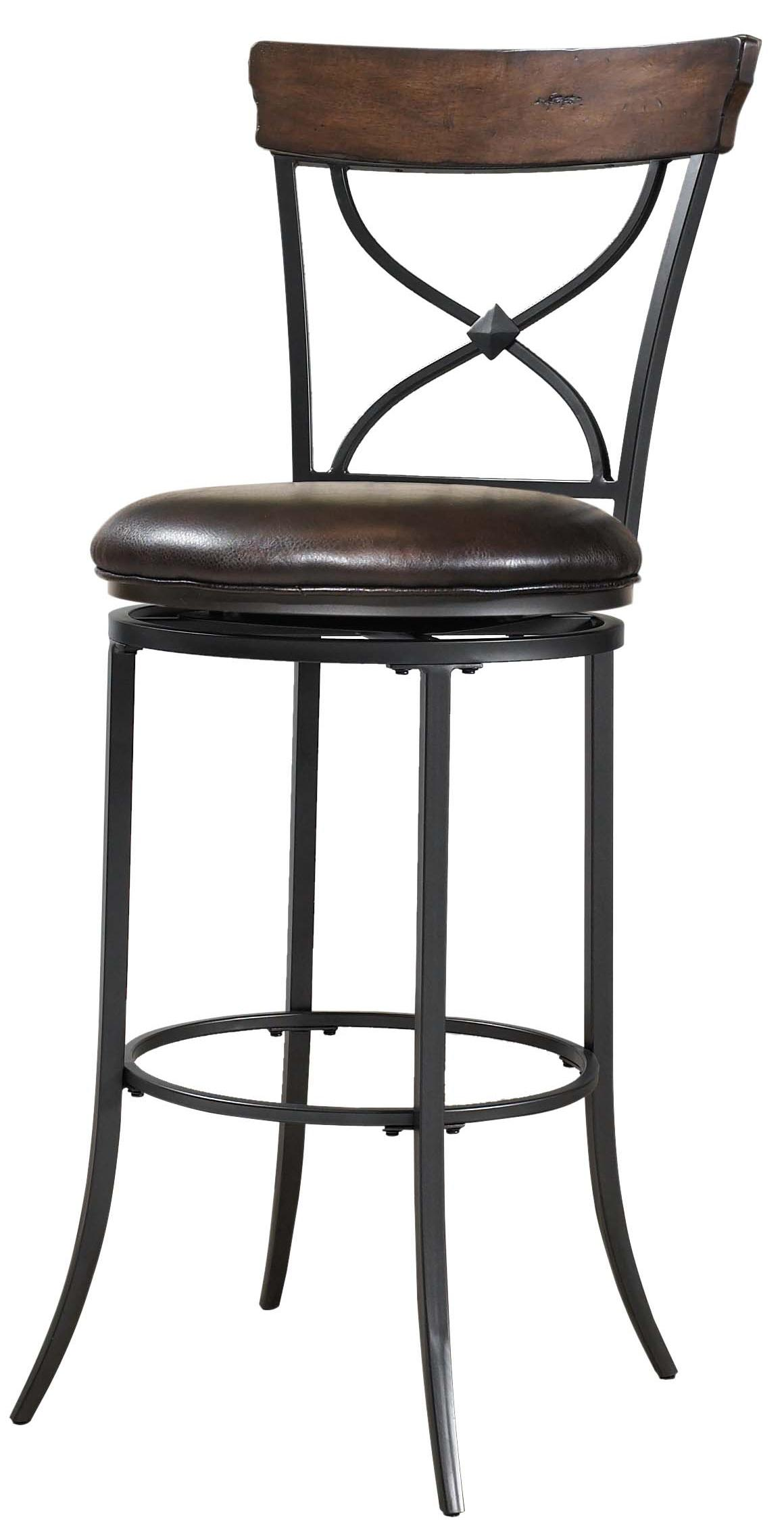 Hillsdale Metal Stools Cameron Swivel X-Back Bar Stool  - Item Number: 4671-830