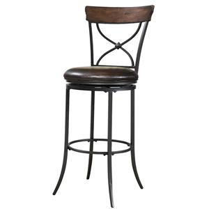 Hillsdale Metal Stools Cameron Swivel X-Back Counter Stool