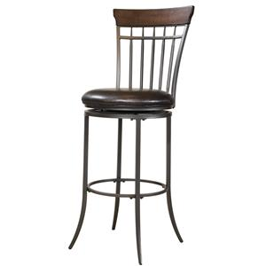 Morris Home Furnishings Metal Stools Cameron Swivel Spindle Back Bar Stool