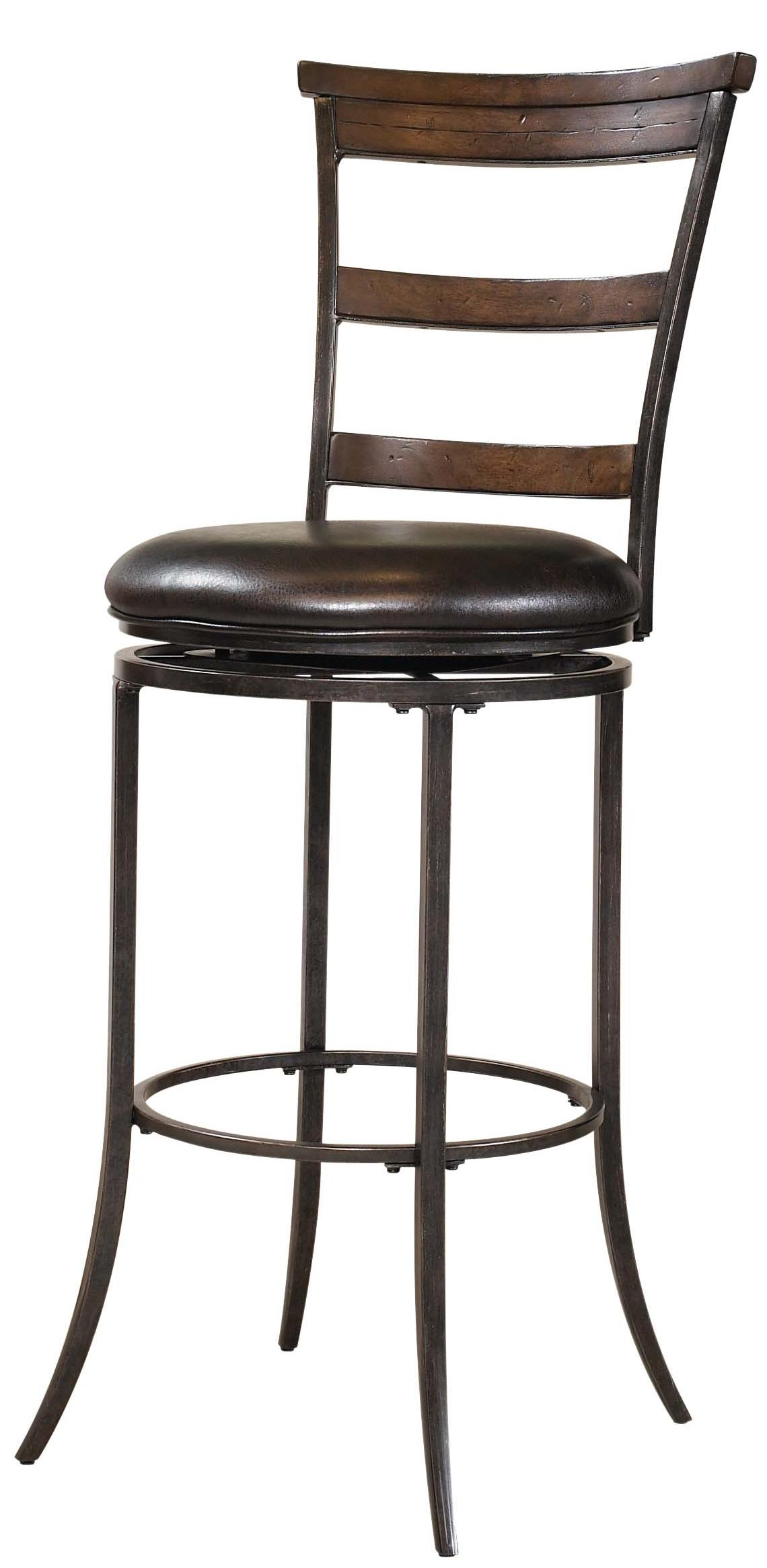 Hillsdale Metal Stools Cameron Swivel Ladder Back Counter Stool - Item Number: 4671-828