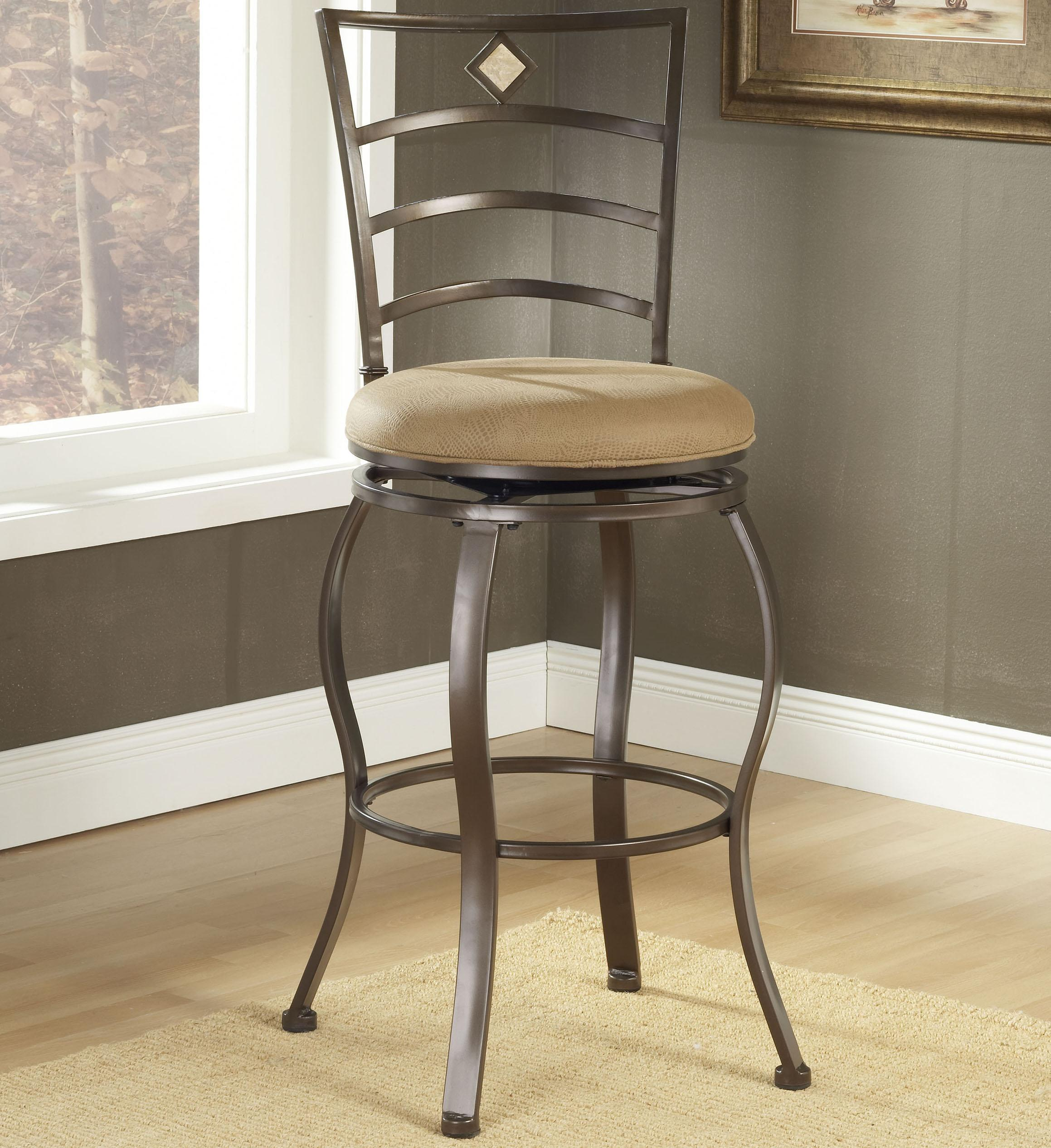"Hillsdale Metal Stools 30"" Bar Height Marin Swivel Stool  - Item Number: 4815-842"