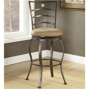 "Morris Home Furnishings Metal Stools 24"" Counter Height Marin Swivel Stool"