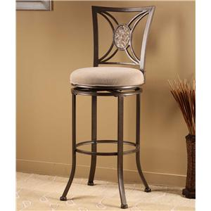 Morris Home Furnishings Metal Stools Rowan Swivel Bar Stool