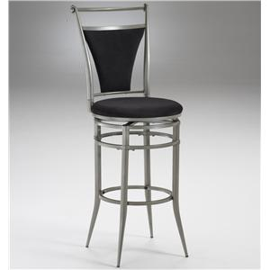 "Morris Home Furnishings Metal Stools 26"" Counter Height Pewter Cierra Stool"