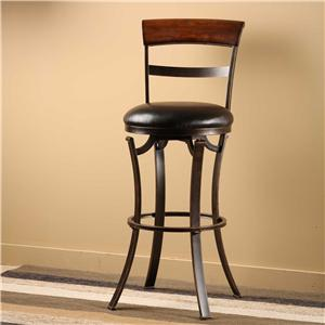 Morris Home Metal Stools  Kennedy Swivel Bar Stool