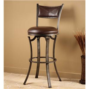 Hillsdale Metal Stools Drummond Swivel Counter Stool
