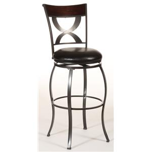 Hillsdale Metal Stools Stockport Swivel Counter Stool