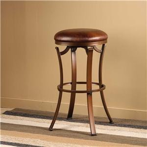 Morris Home Metal Stools Kelford Backless Swivel Counter Stool