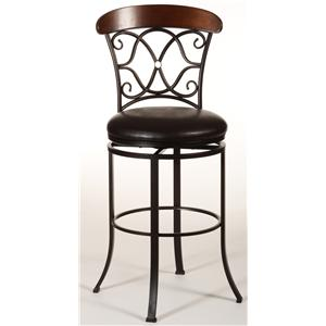 Morris Home Furnishings Metal Stools Dundee Swivel Counter Stool
