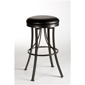 Morris Home Furnishings Metal Stools Ontario Backless Bar Stool