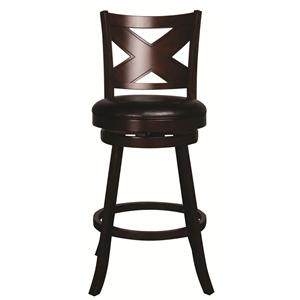 "Morris Home Furnishings Metal Stools Auburn 30"" Upholstered Barstool"