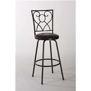 Morris Home Furnishings Metal Stools Bellesol Swivel Counter/ Bar Stool