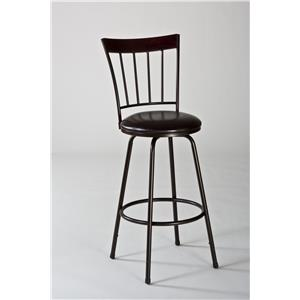 Morris Home Furnishings Metal Stools Cantwell Swivel Counter/ Bar Stool