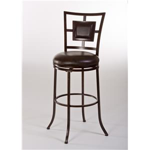 Hillsdale Metal Stools Foxholm Swivel Bar Stool