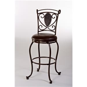 Hillsdale Metal Stools Scarton Swivel Bar Stool