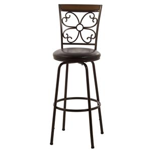 Morris Home Furnishings Metal Stools Garrison Swivel Counter/ Bar Stool