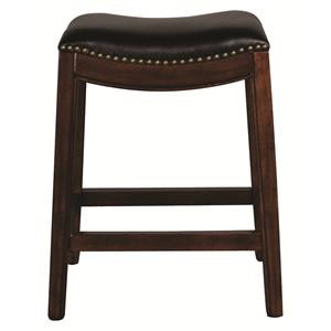 "Morris Home Furnishings Metal Stools Clarkson 24"" Saddleseat Barstool"