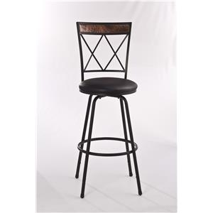 Hillsdale Metal Stools Adjustable Bar Stool