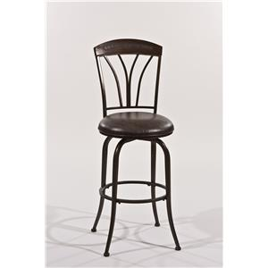Morris Home Furnishings Metal Stools Swivel Counter Stool