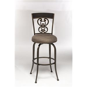 Hillsdale Metal Stools Swivel Counter Stool