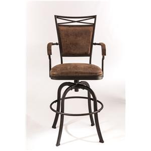 Hillsdale Metal Stools Tilt Base Bar Stool