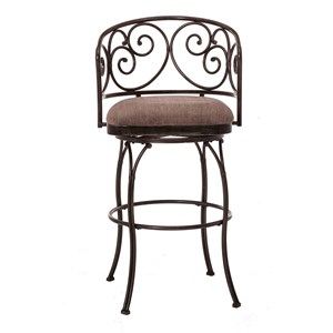 Morris Home Furnishings Metal Stools Swivel Bar Stool