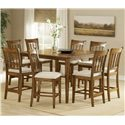 Hillsdale Bayberry and Glenmary Non-Swivel Counter Stool - Shown with Counter Height Gathering Table