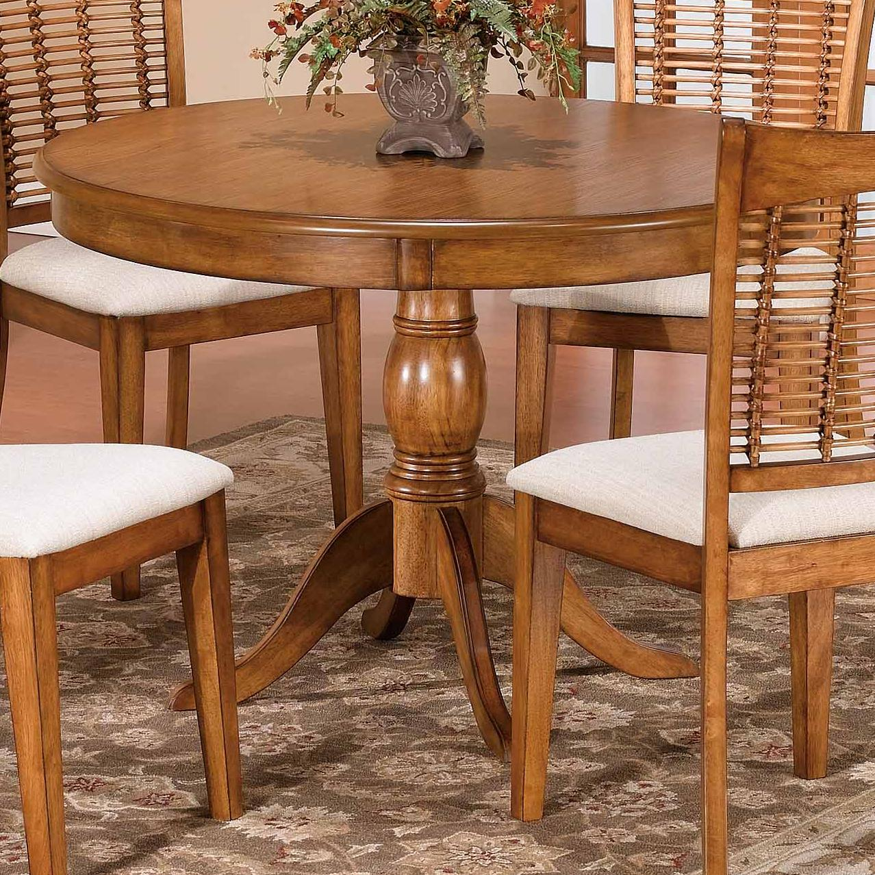 Hillsdale Bayberry and Glenmary Round Pedestal Table - Item Number: 4766DTB