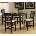 Morris Home Furnishings Bayberry and Glenmary Non-Swivel Counter Stool - Shown with Counter Height Gathering Table
