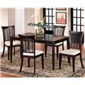 Hillsdale Bayberry and Glenmary Five Piece Rectangle Dining Set - Item Number: 4783DTBCRCT