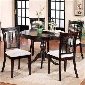 Morris Home Furnishings Bayberry and Glenmary Five Piece Round Dining Set