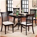 Hillsdale Bayberry and Glenmary Five Piece Round Dining Set - Item Number: 4783DTBCRND