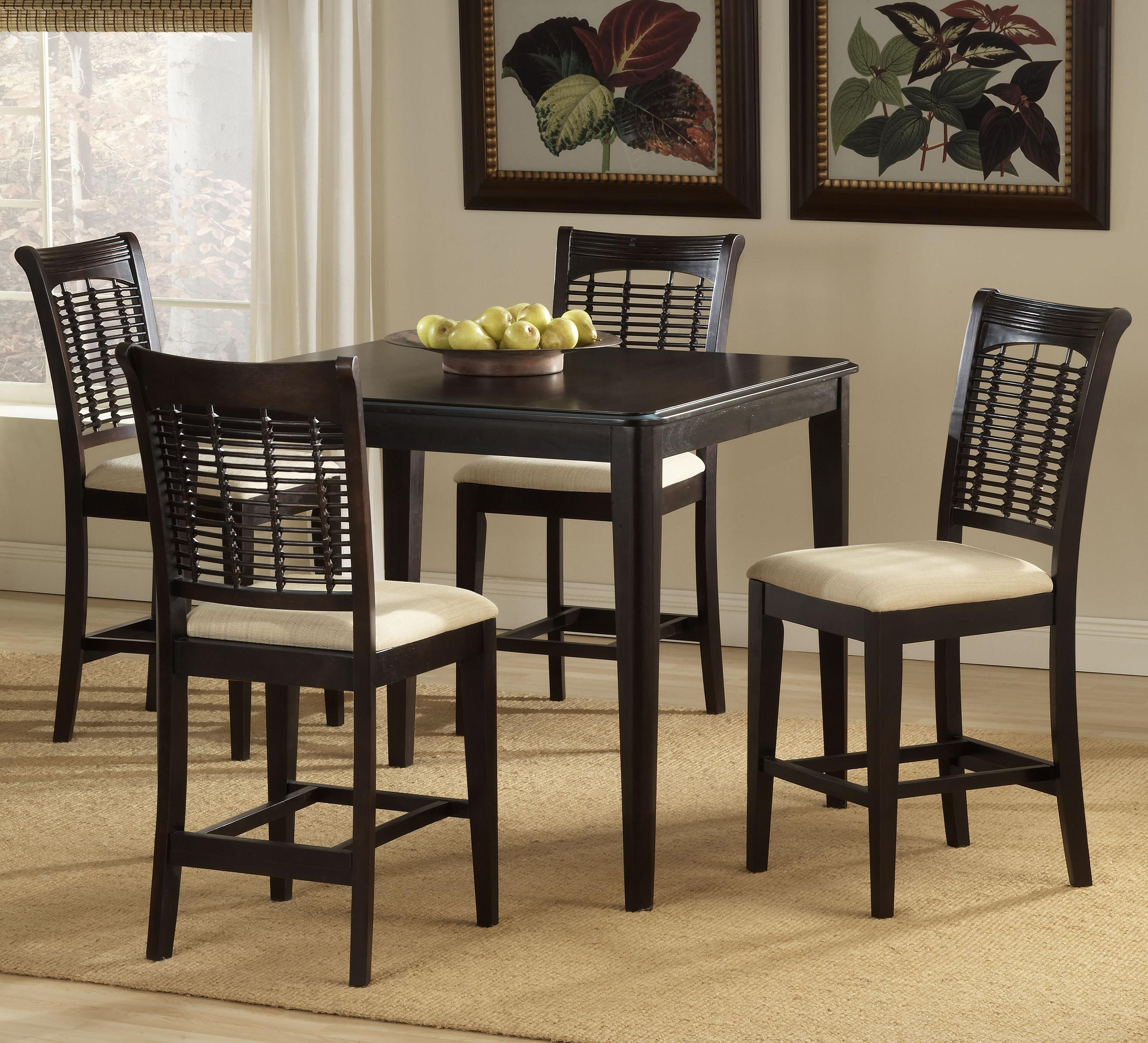 Hillsdale Bayberry and Glenmary Five Piece Counter Height Dining Set - Item Number: 4783DTBSG